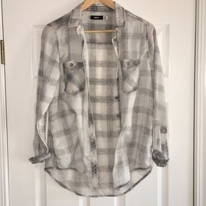 NWOT plaid patterned button down